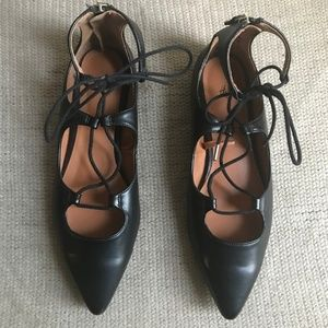Pointy Toe Flats W/Lace Up From H&M